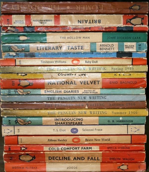 Vintage Penguin paperback books