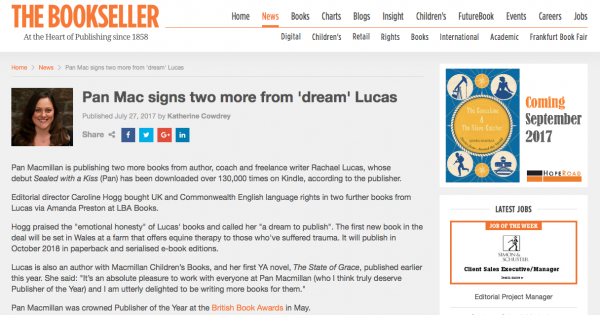 rachael lucas bookseller deal announcement